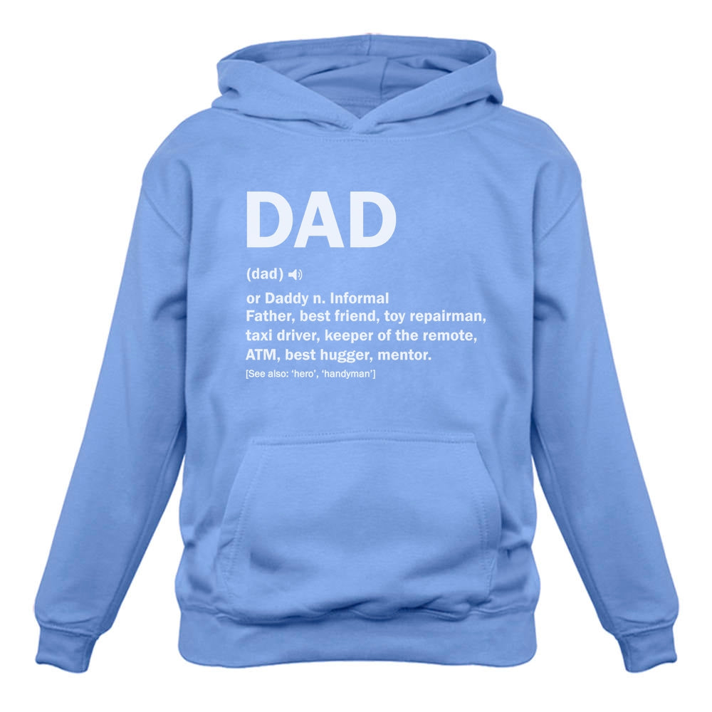 Dad Definition Funny Father's Day Hoodie - Blue