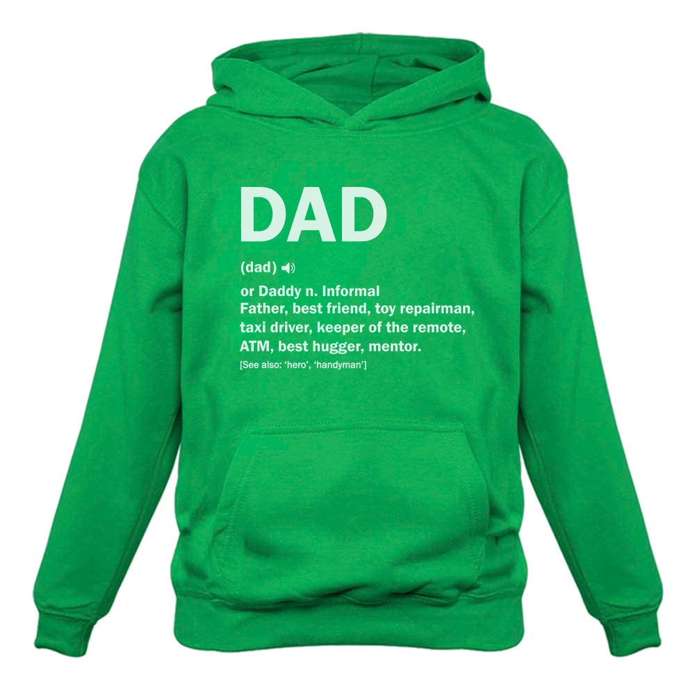 Dad Definition Funny Father's Day Hoodie - Green
