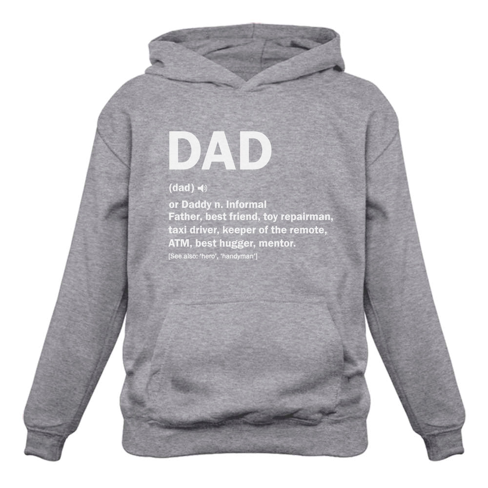 Dad Definition Funny Father's Day Hoodie - Gray