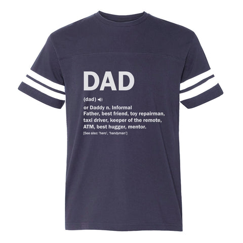 Tstars tshirts Dad Definition Funny Father's Day Football Jersey T-Shirt