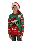Santa Paws Ugly Christmas Youth Kids sweater