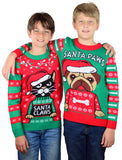 Santa Claws Ugly Christmas Youth Kids sweater