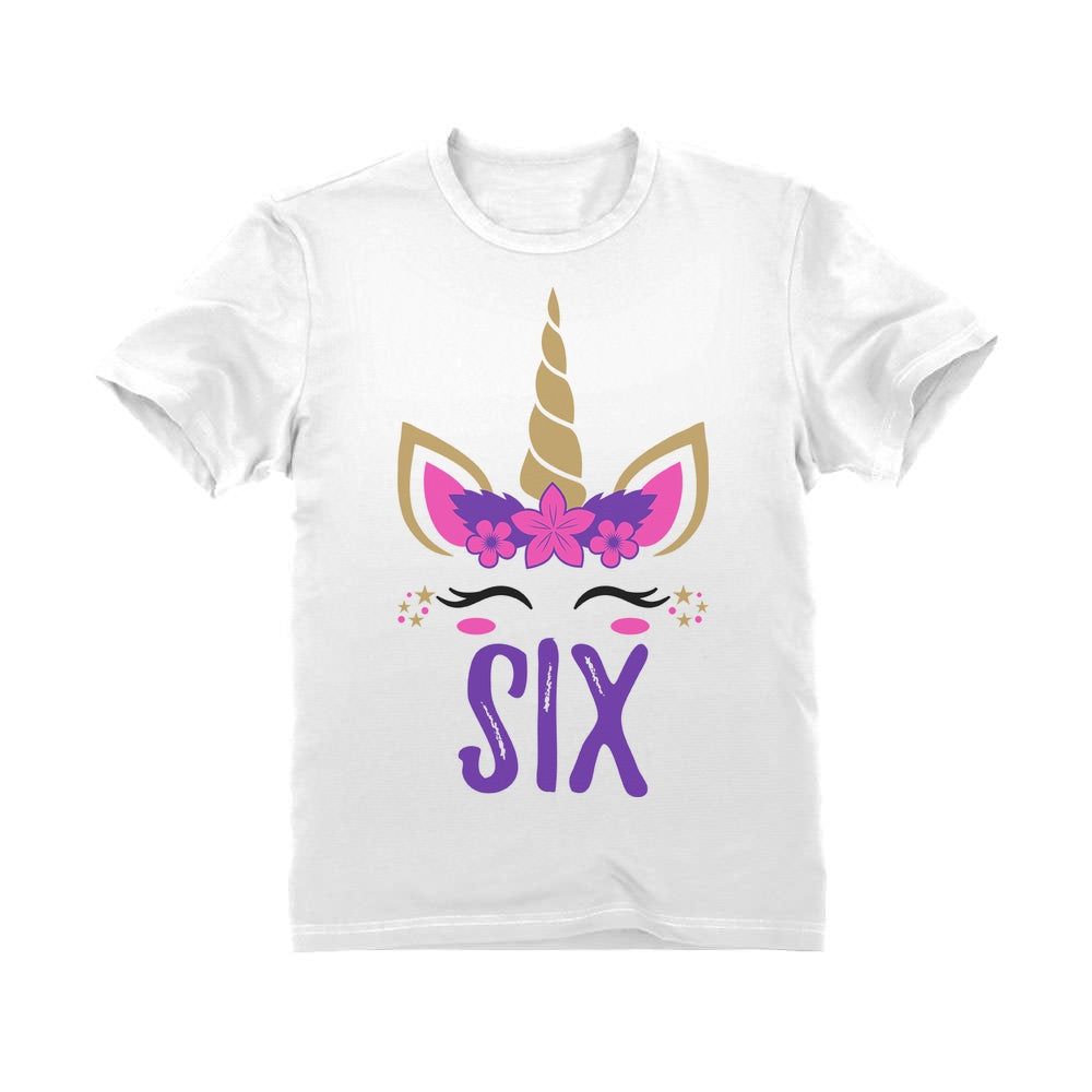 Gift for 6 Year Old Girl Unicorn Youth Kids T-Shirt