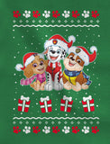 Paw Patrol Ugly Christmas Rubble Marshall Santa Infant Girls' Fitted T-Shirt