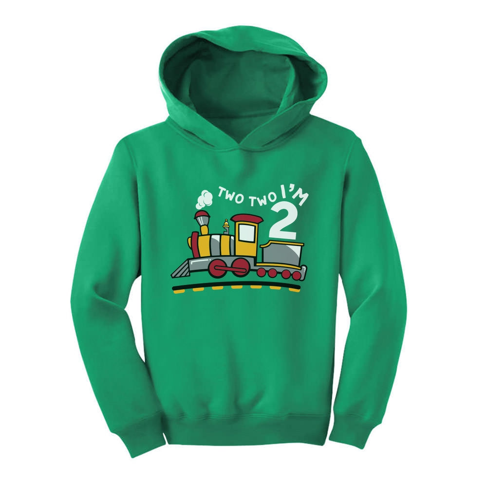 2 Year Old Birthday Shirt for Boy 2nd Birthday Outfit Two Train Toddler Hoodie