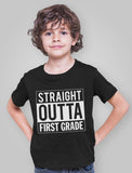 Straight Outta 1st Grade Youth Kids T-Shirt