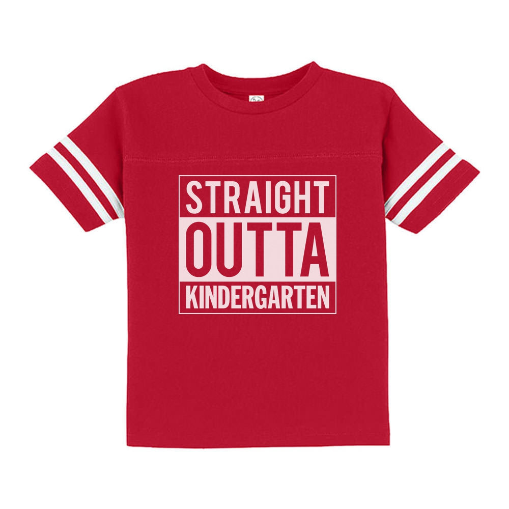Straight Outta Kindergarten Toddler Jersey T-Shirt