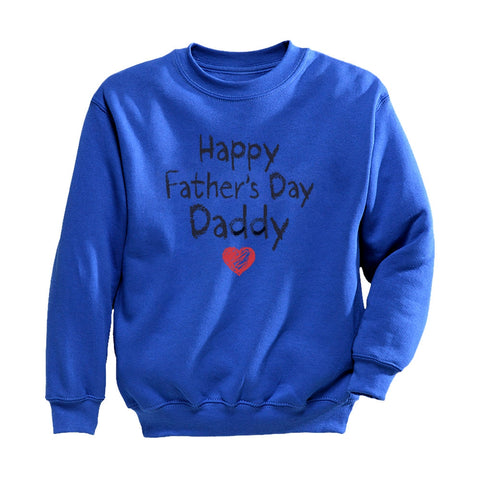 Tstars tshirts Happy Father's Day Daddy Toddler/Kids Sweatshirt