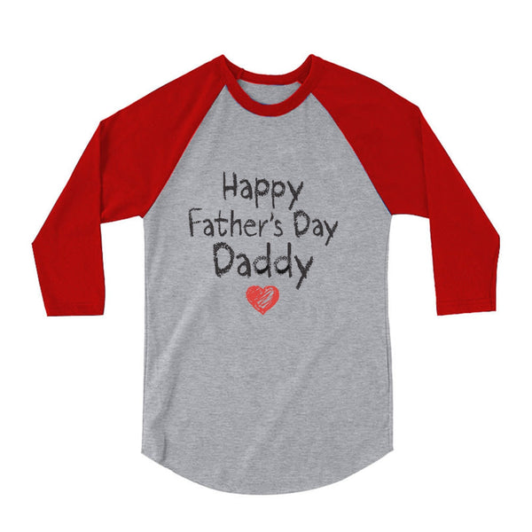Tstars tshirts Happy Father's Day Daddy 3/4 Sleeve Baseball Jersey Toddler Shirt