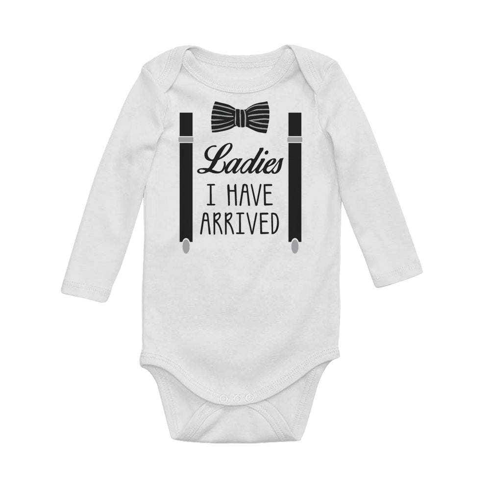 Ladies I Have Arrived Baby Long Sleeve Bodysuit
