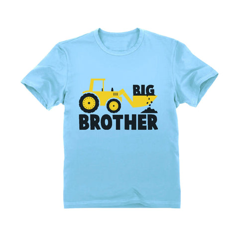 Tstars tshirts Big Brother Tractor Boys Toddler Kids T-Shirt