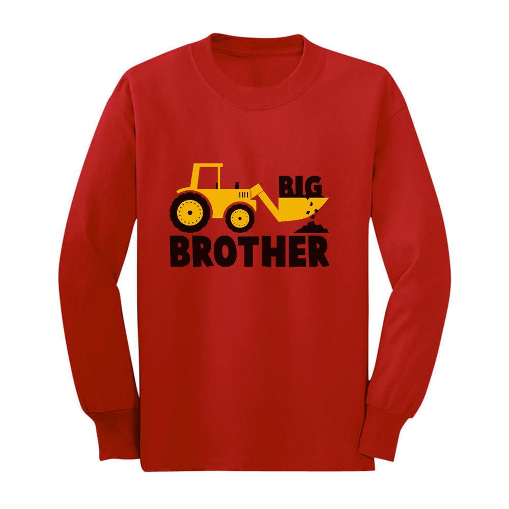 Big Brother Tractor Boys Toddler Kids Long sleeve T-Shirt