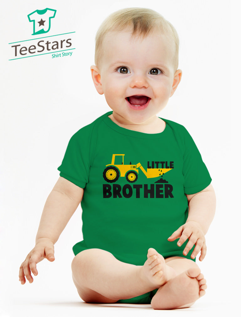 Little Brother Tractor Boys Baby Bodysuit