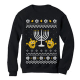 Ugly Christmas Hanukkah Sweater Women Sweatshirt