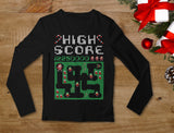 Santa Video Game Ugly Christmas Sweater Youth Kids Long Sleeve T-Shirt