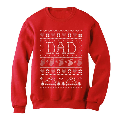 Tstars tshirts Dad's Ugly Christmas Sweater Sweatshirt