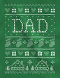 Dad's Ugly Christmas Sweater V-Neck T-Shirt
