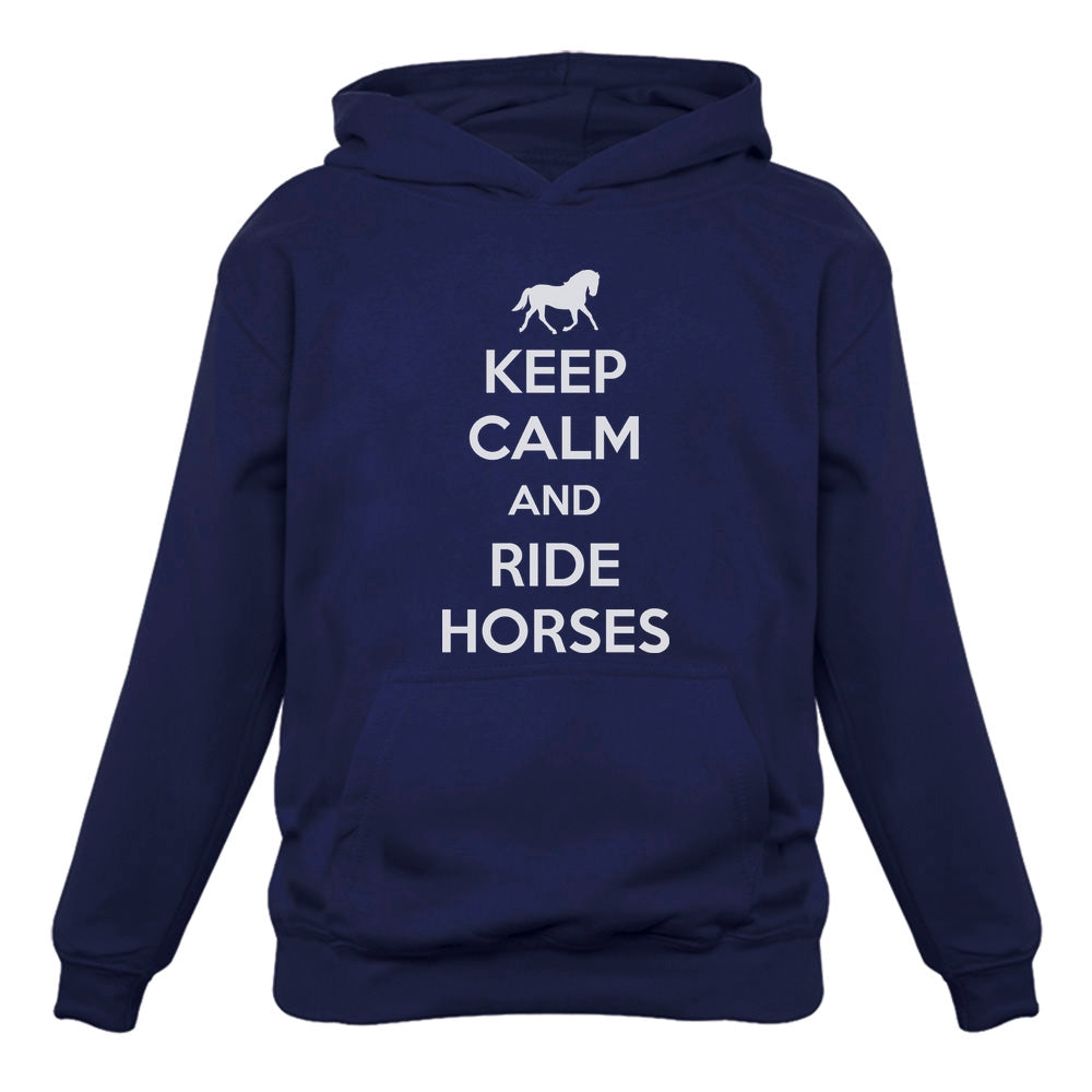 Keep Calm Ride Horses Women Hoodie