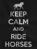 Thumbnail Keep Calm Ride Horses Women Hoodie California Blue