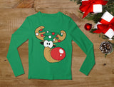 Cute Reindeer Lights Christmas Toddler Long sleeve T-Shirt