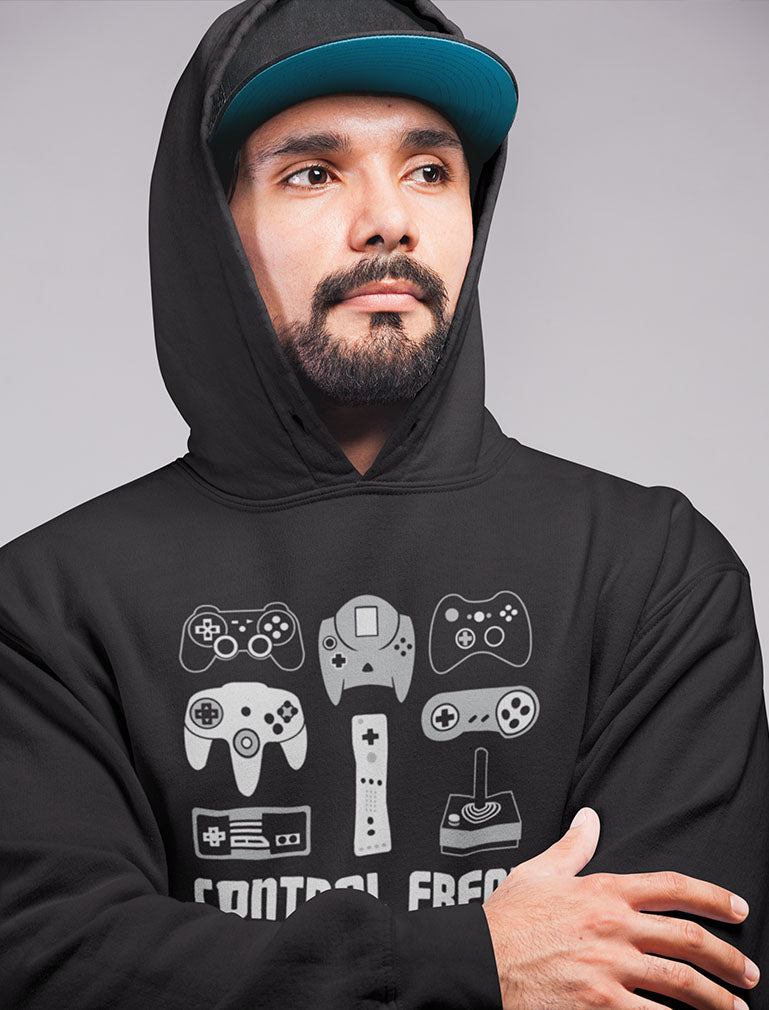 Video Game Control Freak Gamer Hoodie