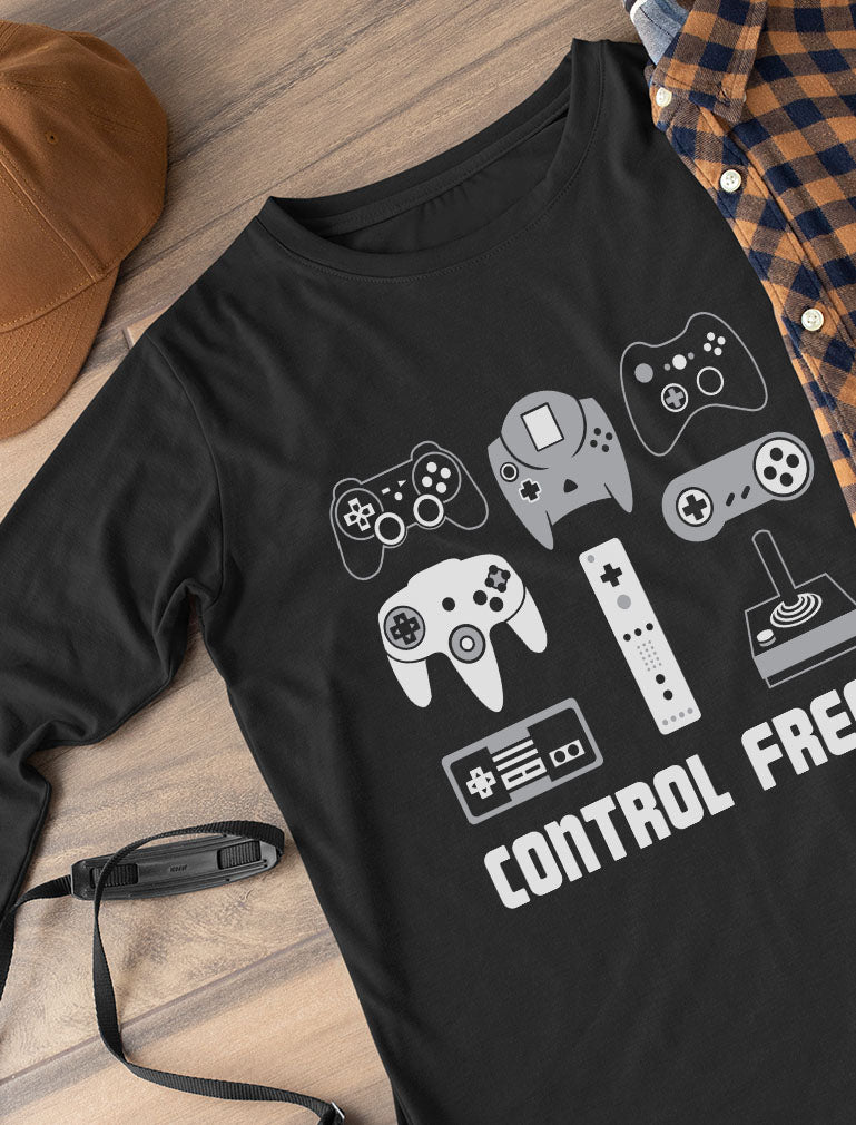 Video Game Control Freak Gamer Youth Kids Long Sleeve T-Shirt