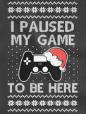 I Paused My Game to Be Here Ugly Christmas Youth Kids Long Sleeve T-Shirt