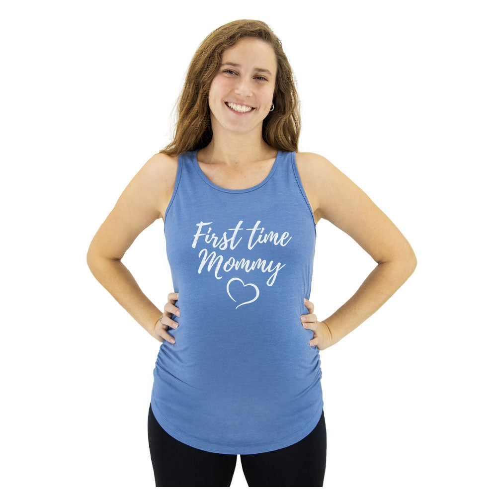 First Time Mommy Maternity Shirt First Time Mom Gift Mommy To Be Maternity Tank Top