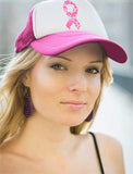 Breast Cancer Awareness Pink Ribbon Camouflage Fighter Trucker Hat Mesh Cap