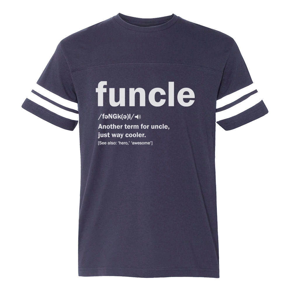 Funny Uncle Funcle Definition Gift For Uncles Football Jersey T-Shirt
