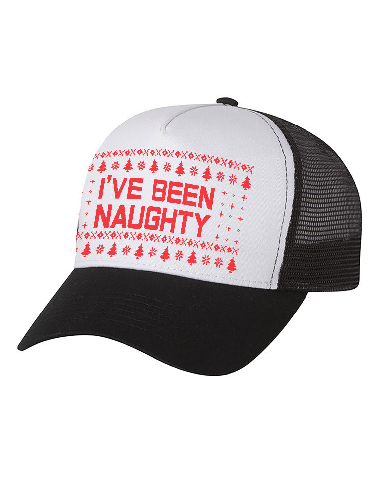 I'm On The Naughty List Ugly Christmas Party Hat Trucker Hat Mesh Cap
