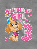 Birthday Girl Paw Patrol Skye 3rd Birthday Toddler Kids Long sleeve T-Shirt