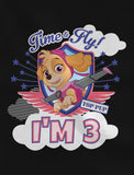 Paw Patrol Skye Birthday Girl 3rd Birthday Gift Toddler Kids Girls' Fitted T-Shirt