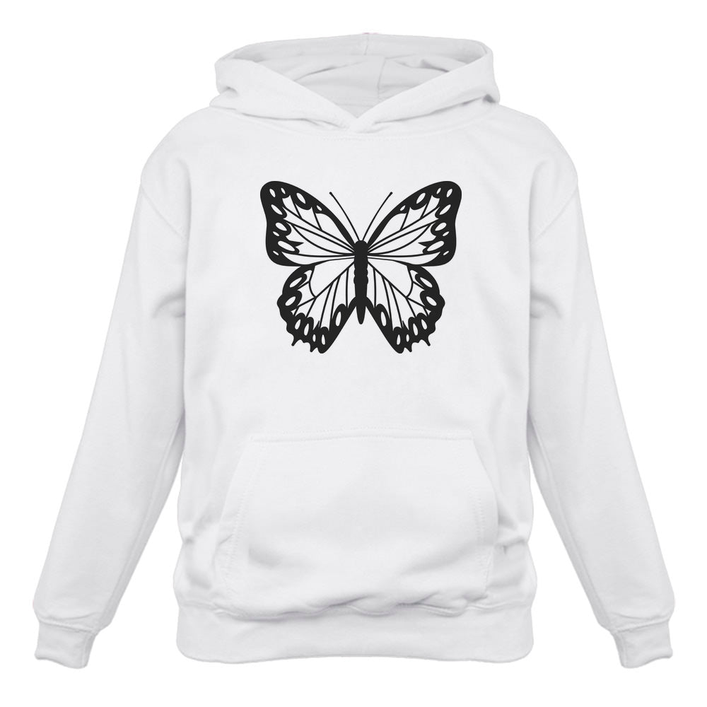 Women's Butterfly Graphic Sweatshirt Teen Girls Cute Women Hoodie