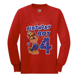 Official Paw Patrol Chase Boys 4th Birthday Toddler Kids Long sleeve T-Shirt