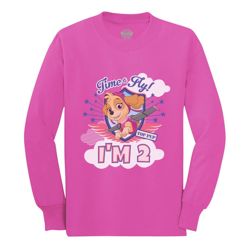 Skye Birthday Girl Paw Patrol 2nd Birthday Toddler Kids Long sleeve T-Shirt