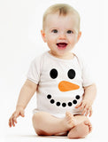 Snowman Outfit for Baby Boy Girl Christmas Holiday Cute Baby Bodysuit