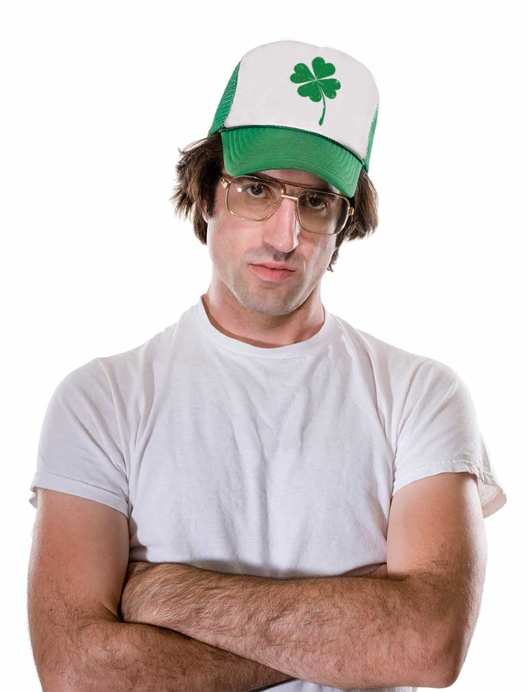 St. Patrick's Day Shamrock Irish Green Four-leaf clover Trucker Hat Mesh Cap