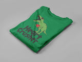 Heart Crusher T-Rex Love Valentine's Gift Youth Long Sleeve T-Shirt