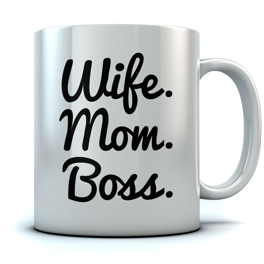 Wife Mom Boss Coffee Mug - Mother's Day Gift Idea Unique Cup For Women Tea Mug