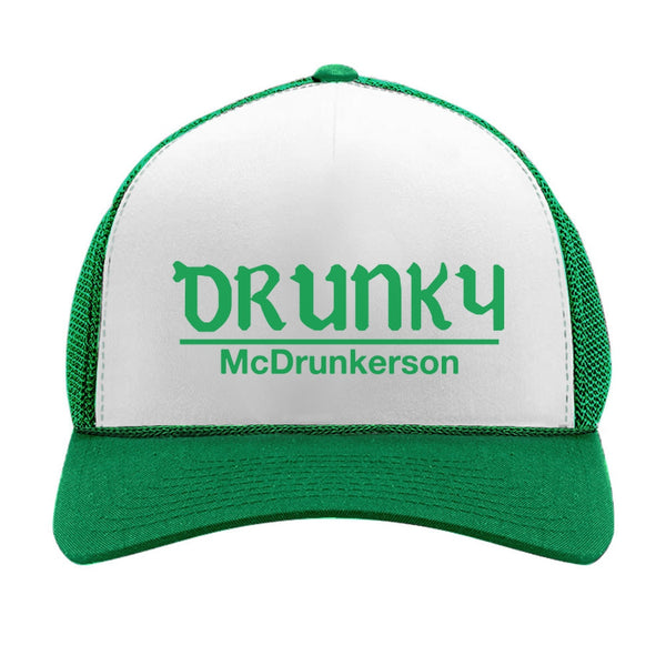 bb6cfa47a942d Drunky McDrunkerson Funny St. Patrick s Day Party Trucker Hat Mesh Cap –  Tstars