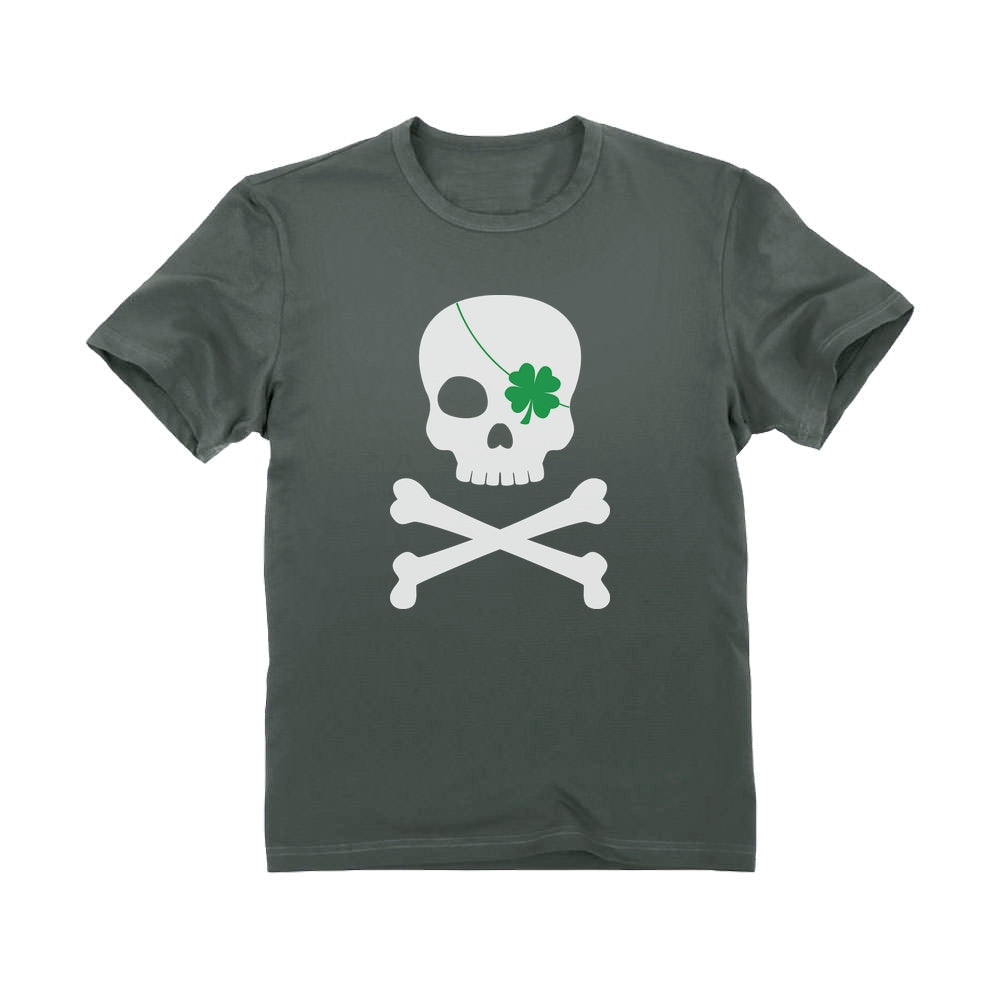 Irish Clover Skull Cool St. Patrick's Day Toddler Kids T-Shirt