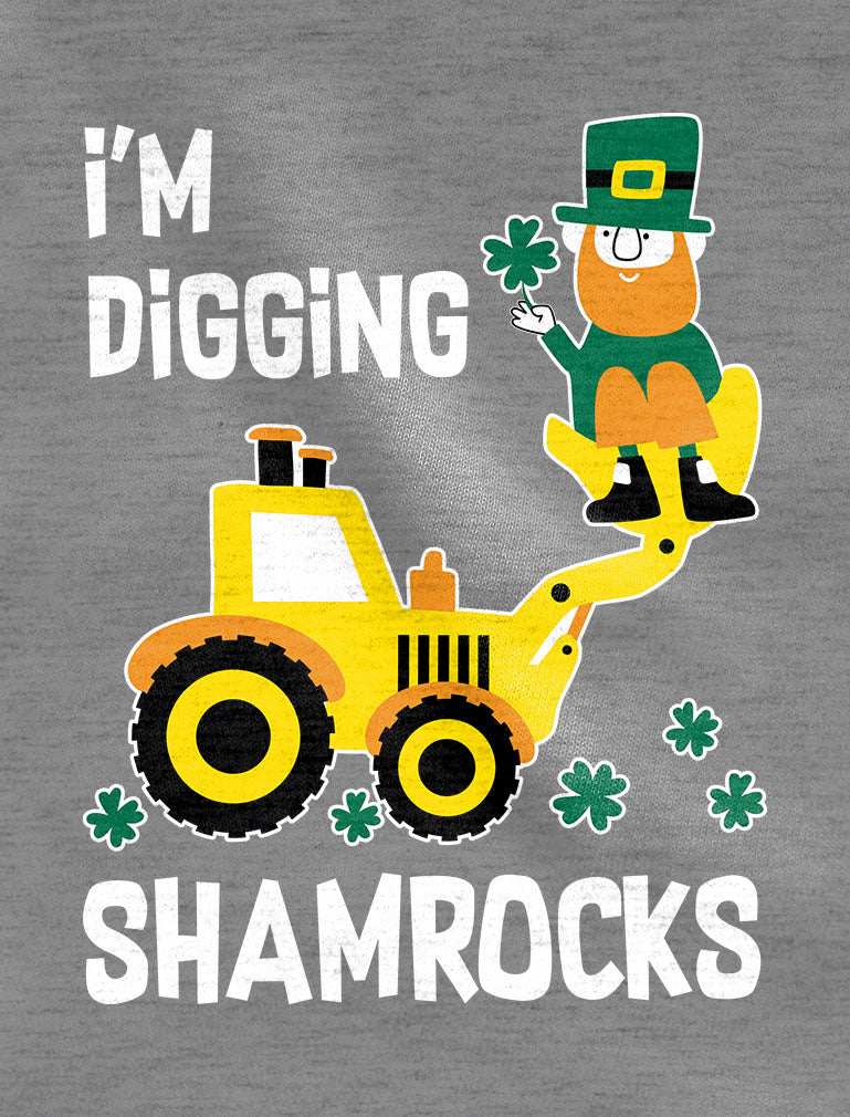 I'm Digging Shamrocks St. Patrick's 3/4 Sleeve Baseball Jersey Toddler Shirt