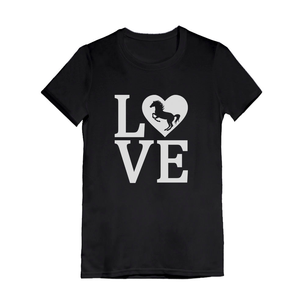 Love Horses Youth Kids Girls' Fitted T-Shirt