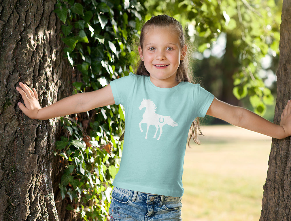 Gift For Horse Lover Youth Kids Girls' Fitted T-Shirt