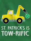 St. Patrick's Day Clover Tractor Toddler Kids T-Shirt