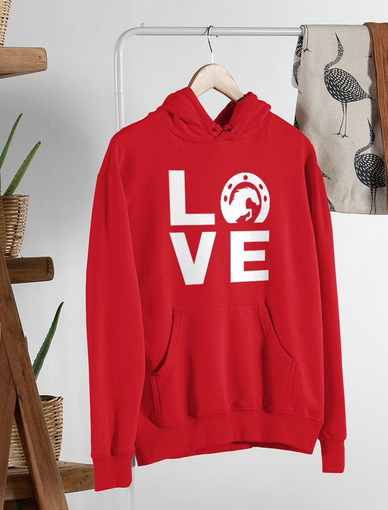Animal Lover Rearing Horse - Love Horses - Horseshoe Women Hoodie