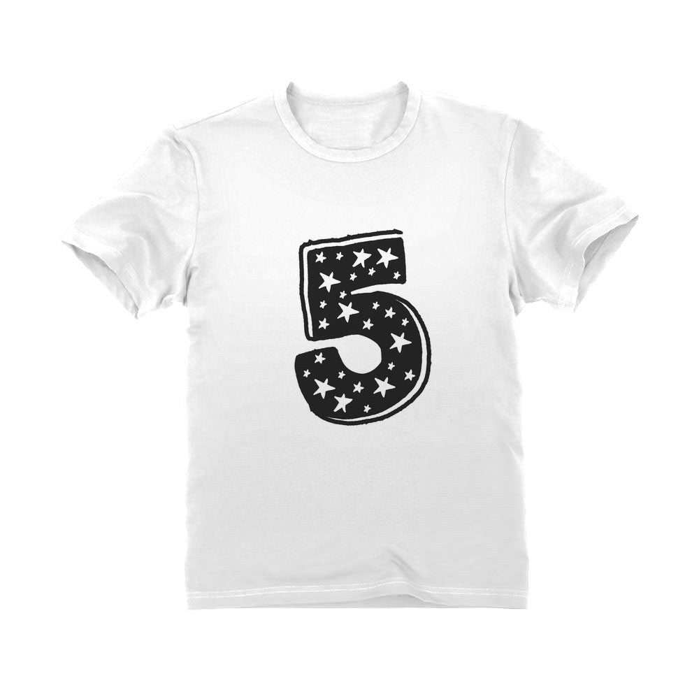 5 Kids Birthday - Superstar 5 Years Old Cute Gift Idea Youth Kids T-Shirt