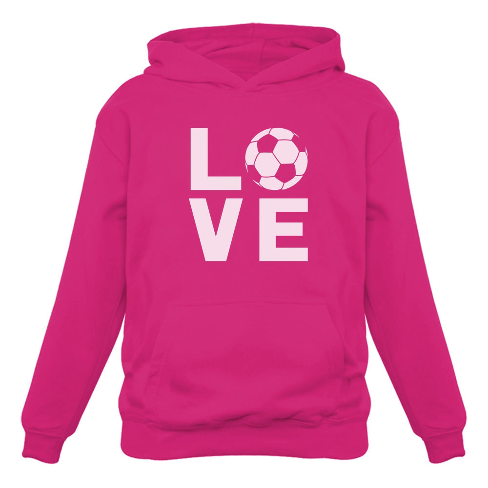 Love Soccer - Gift Idea for Soccer Fans Novelty Women Hoodie