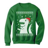 Ugly Christmas Sweater Big Trex Santa - Funny Xmas Sweatshirt